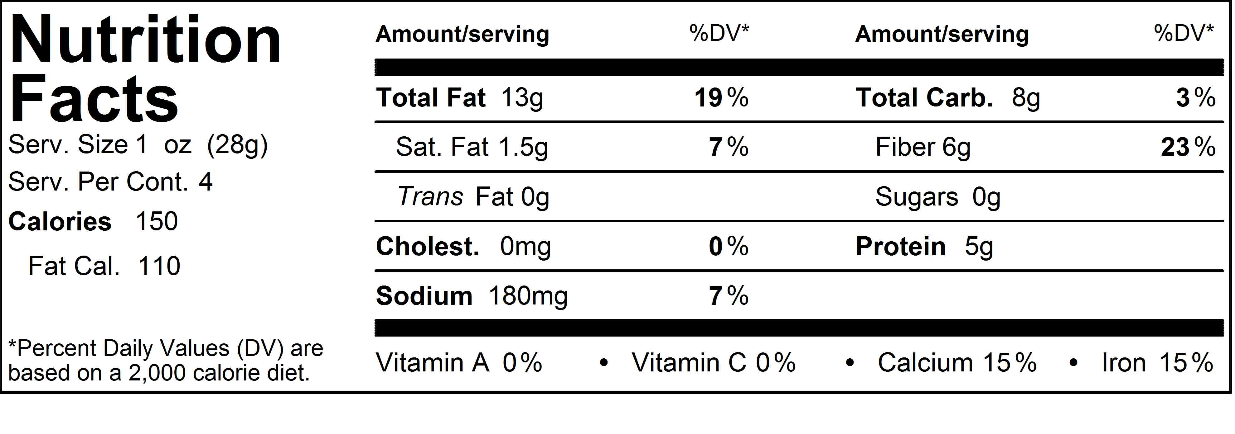 Hummus Nutrition Label Check Out The Nutrition Label